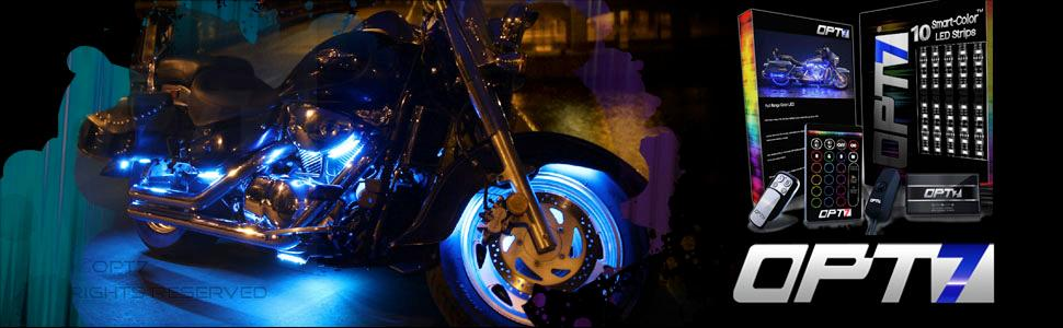 Amazon 10pc aura motorcycle led light kit multi color accent view larger aloadofball Image collections