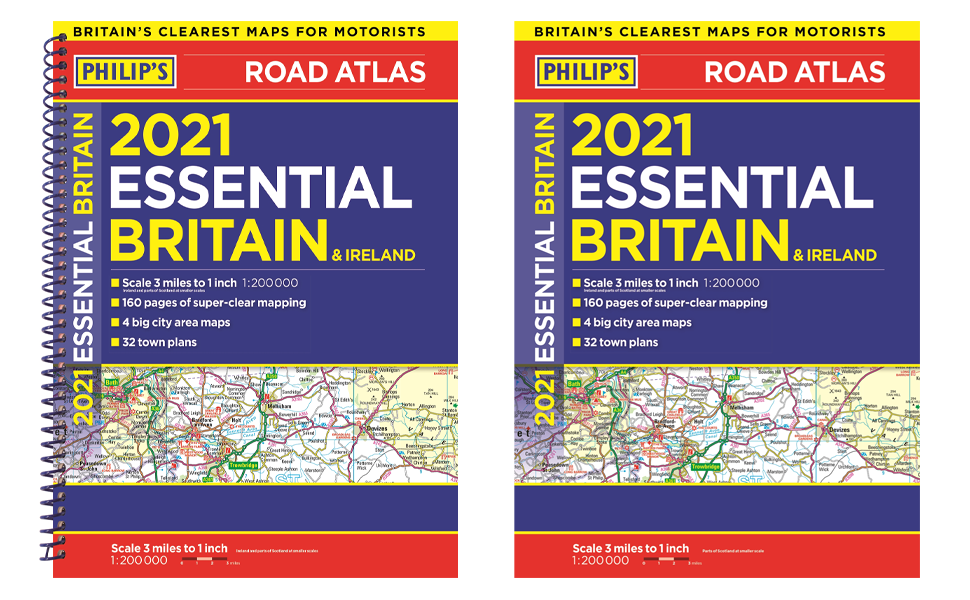 road atlas europe best-seller philip's new maps detailed road france spain italy A3 city