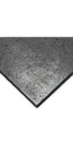 Smooth Finish Black No Backing 0.25 Thickness 60 Shore A Sheet 24 Length Styrene Butadiene Rubber 12 Width SBR