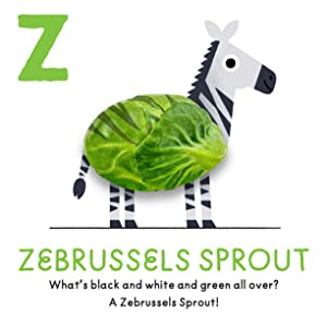 Learn the ABCs through cute, quirky mash-ups of animals and food, from Apricat to Zebrussels Sprout