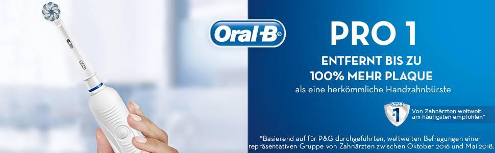 PRO 1 Verwijdert 100% meer plaque #1 dentist aanbevolen tandenborstel wereldwijd