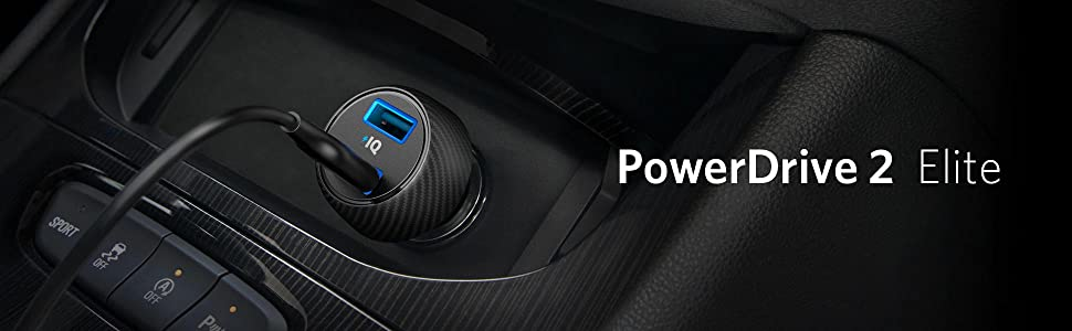Incarcator auto Anker PowerDrive Speed 2 PowerIQ si VoltageBoost