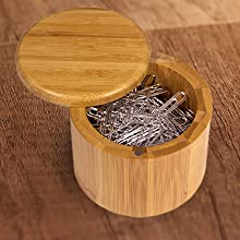 salt box, bamboo, salt cellar, storage box, compact, kitchen, office, organization, totally bamboo