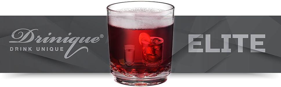 Drinique ELITE Collection Premium Unbreakable Tritan Drinkware Made in USA