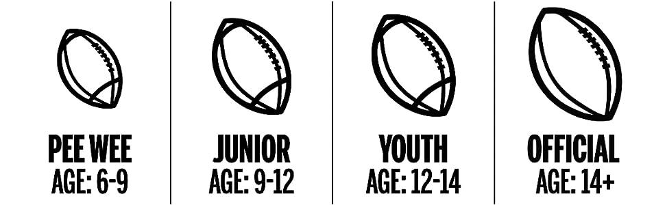 pee wee football; junior football; youth football; official football; football; footballs