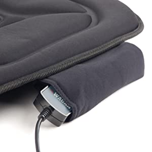 deluxe cushion, heated seat cushion, heated massage cushion, heat massage cushion, massage cushion