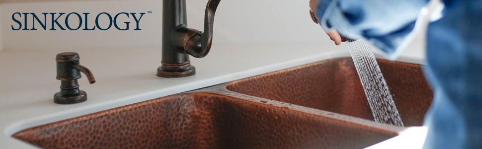 undermount, copper, kitchen sink, sinkology