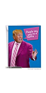 Amazon Com Big President Trump Valentine S Day Card Envelope
