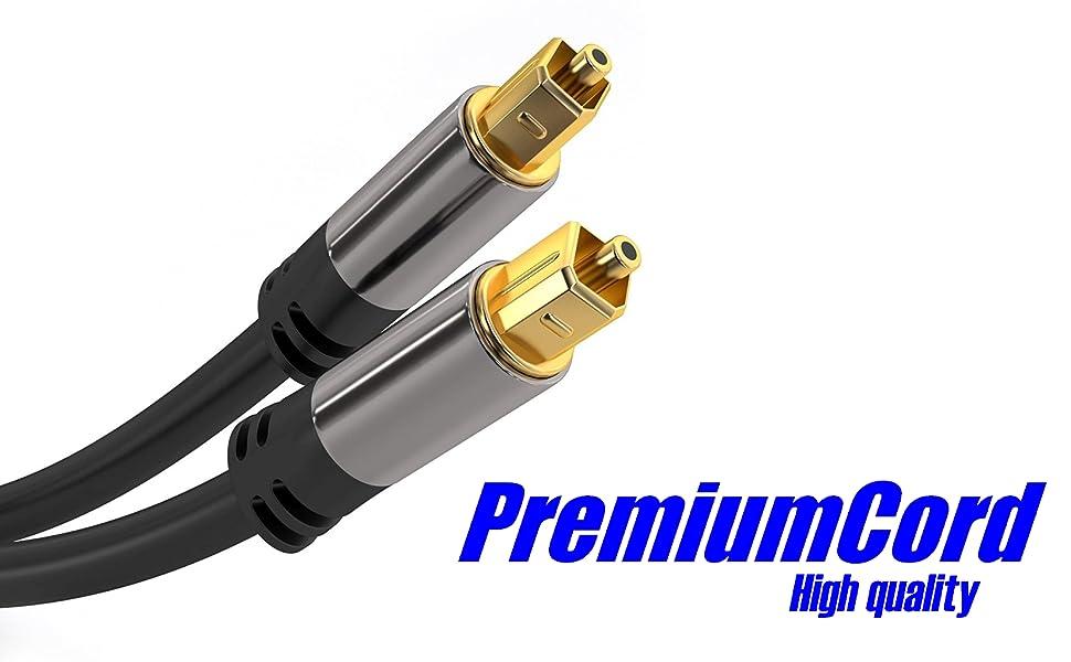 Premiumcord Optisches Audiokabel Toslink 3 M Computer Zubehör