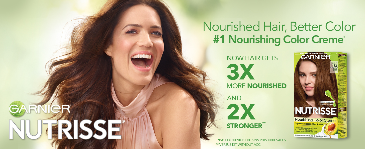 garnier nutrisse hair color, at home hair color, permanent hair color, how to dye hair at home