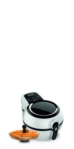 Tefal YV9708 ActiFry Genius XL 2 en 1 - Freidora sin Aceite, Tecnología Dual Motion, Capacidad XL, 9 Programas, Apta para el Lavavajillas para hasta 1,7 kg de Frituras, dos Zonas Cocción,