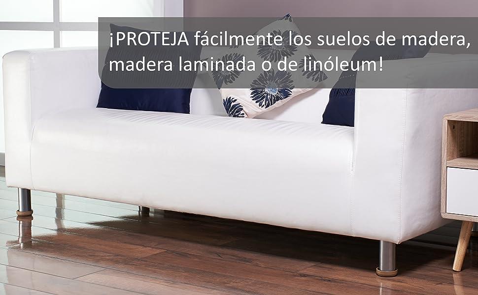 baldosas y lin/óleo de rasgu/ños 16 x PEQUE/ÑO 44mm Protectores de Fieltro para el Piso PROTEJA sus pisos laminados de madera