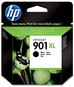 HP ,901XL ,High ,Yield ,Black ,Original ,Ink ,Cartridge, CC654AE