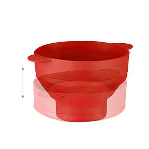 Relaxdays Palomitero para Microondas, Silicona, Rojo, 25.5x25.5x14.5 cm
