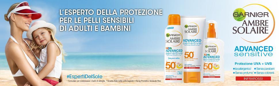 Garnier, ambre solaire, solare, ambre solari, protezione solare, sole, mare, piscina, proteggere,