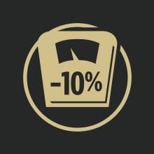 Weight management formula with ten percent less fat