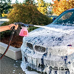 foam cannon, snow foam, chemical guys, honey dew, car wash, hose, foam, soap, detailing, car wash