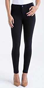 celebrity pink junior little black ponte skinny pant