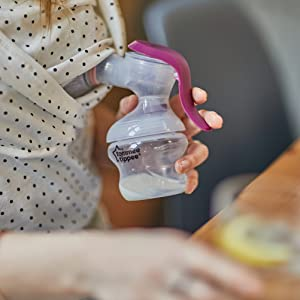 tommee tippee manual breast pump, breastfeeding pump, manual pump