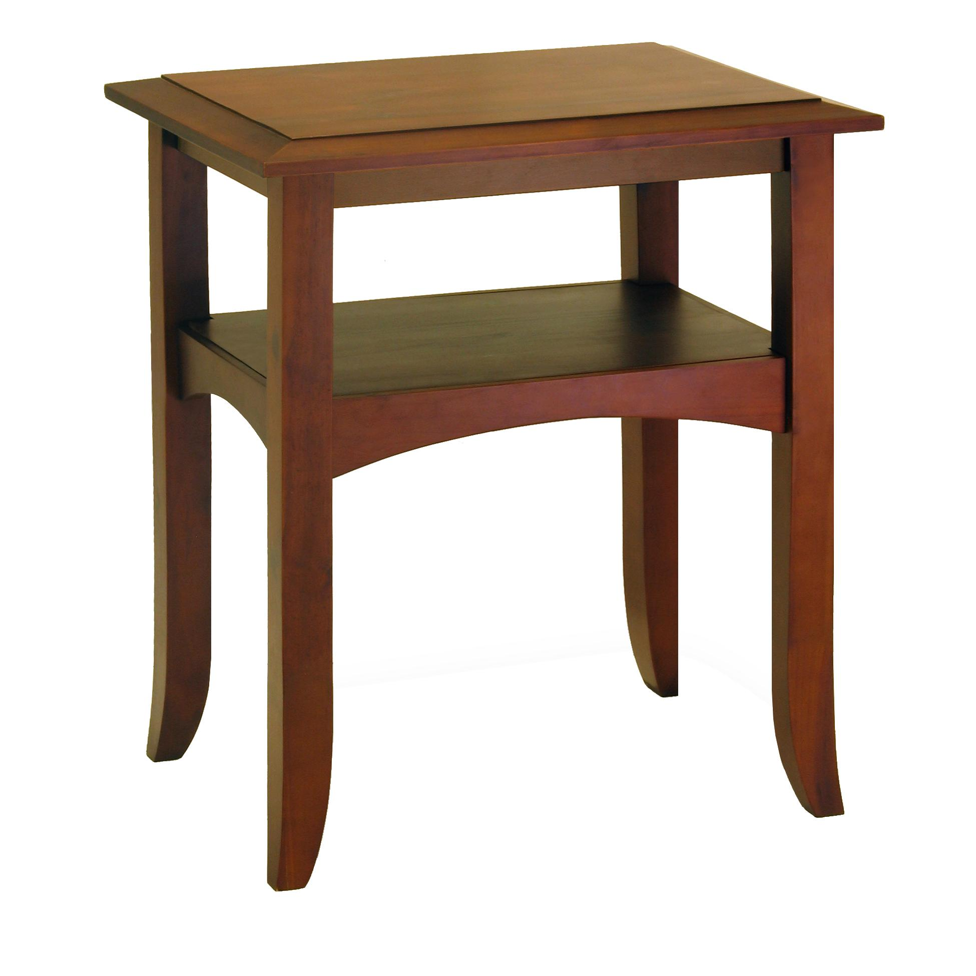 amazoncom winsome wood end table antique walnut kitchen  dining - craftsman end table