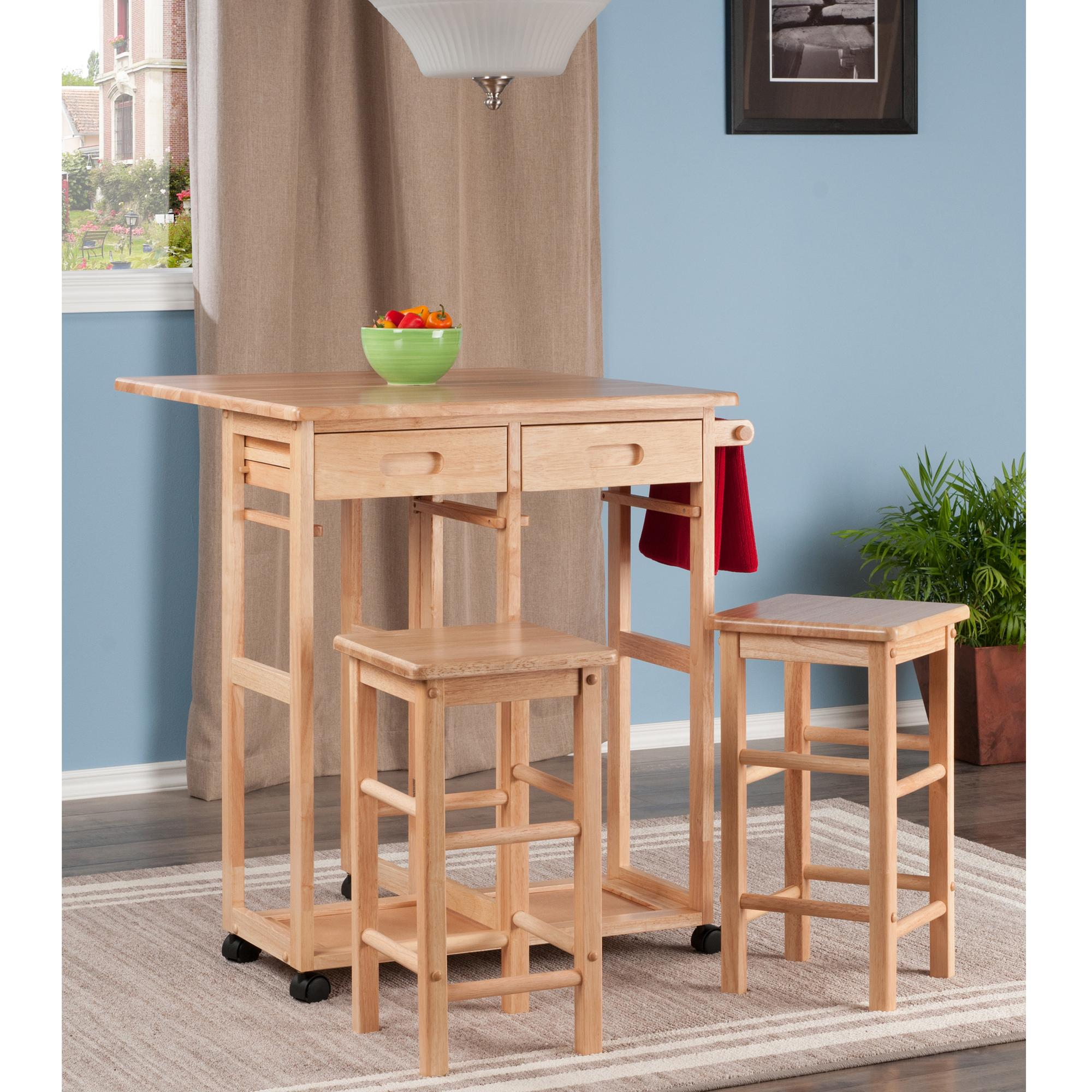 Winsome wood 89330 suzanne kitchen square - Square kitchen island with seating ...
