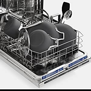 Pots, pans and covers in dishwasher
