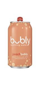 peach bubly sparkling water soda