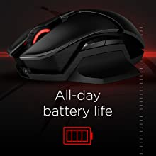OMEN by HP Photon Wireless Mouse Battery Life
