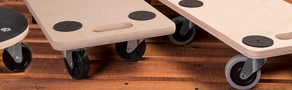 meister transportroller 590 x 290 mm 200 kg tragkraft mdf platte pp r der m belroller. Black Bedroom Furniture Sets. Home Design Ideas