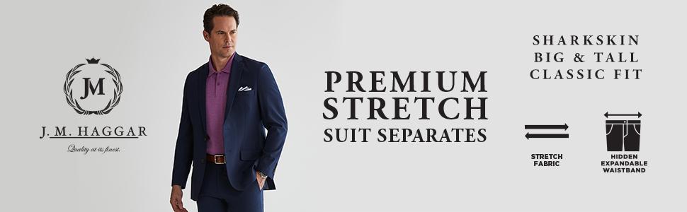 Haggar Mens Tall B/&t J.m Premium Stretch Classic Fit Plain Front Pant Haggar Men/'s Tailored HY90182