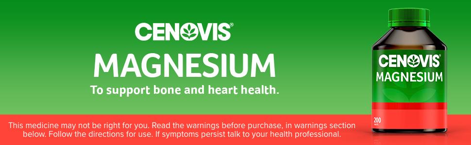 Cenovis; Cenovis magnesium; Cenovis magnesium tablets; Cenovis mineral supplement