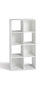 Compo 8 Casiers Meuble de Rangement Etagères Cubes Blanc