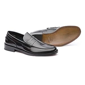 lottusse, mocasines de piel, mocasines negros, zapatos de piel, zapatos de vestir