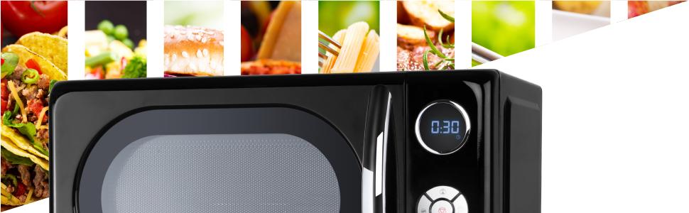 Orbegozo MIG 2044 - Microondas con grill, 20 litros de capacidad, 10 niveles de potencia, 8 menús automáticos preconfigurados, sistema de cocción ...
