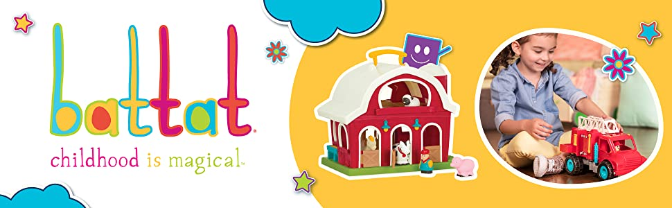 battat farm house set animal set toy for toddler kids baby educational developmental toy