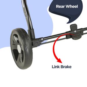 Rear Wheel Link Brake: