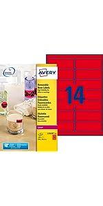 étiquettes fluo, etiquette fluo, étiquettes haute visibilité, étiquette rouge, étiquette rouge fluo,