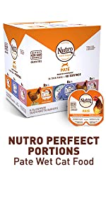 Nutro Perfect Portions Pate Wet Cat Food, Variety Pack, Chicken, Seafood, Fish, Beef, Meat