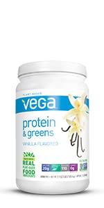 vega protein and greens, plant based protein powder