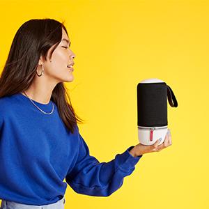 Libratone Zipp Mini 2 Smart Wireless Kleiner Lautsprecher Alexa Integration Airplay 2 Multiroom 360 Sound Wlan Bluetooth Spotify Connect 12 Std Akku Stormy Black Audio Hifi