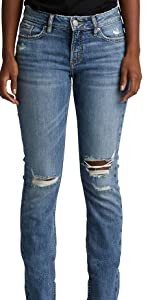 SILVER JEANS CO ELYSE STRAIGHT LEG CURVY FIT JEANS