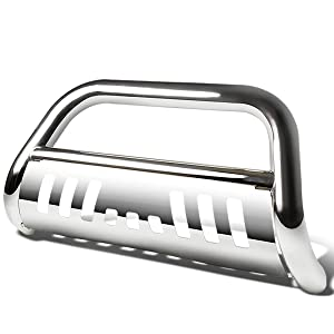 for 07-16 Tundra Sequoia DNA MOTORING BURB-029-SS Silver BURB029SS 3 Front Bumper Push Bull Bar