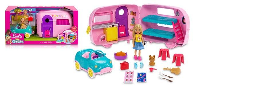 barbie famille coffret mini poup e chelsea avec sa voiture. Black Bedroom Furniture Sets. Home Design Ideas
