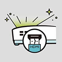 Automatically turns on the projector once the HDMI input signal is detected