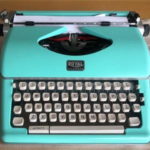 typewriter, royal,