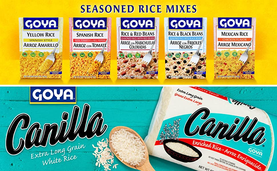 Canilla Long Grain Rice Rice Mixes Yellow Rice Mexican Rice Mix