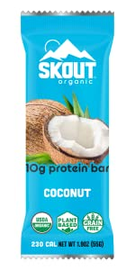 Coconut Skout Organic Plant Based Protein Bar Vegan Non GMO