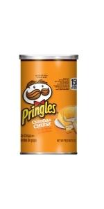 Pringles Potato Crisps Chips, Cheddar, 2.5oz (12 Count)