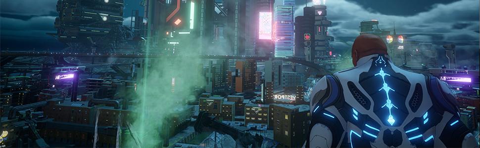 perigoso playgroung do mundo aberto, crackdown 3, jogo lançamento, jogue sozinho ou com um amigo