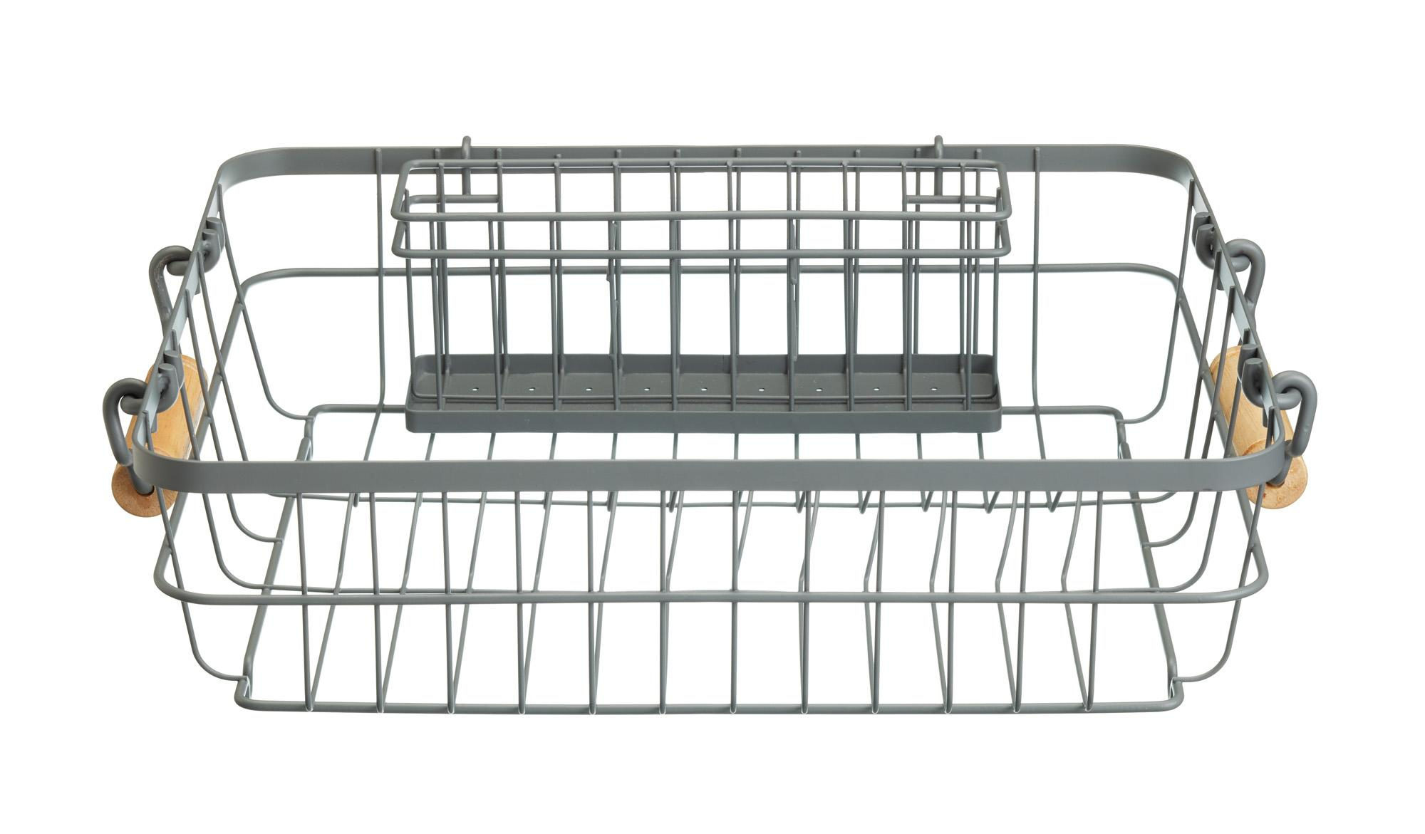 KitchenCraft Living Nostalgia Wire Dish Rack with Cutlery Drainer ...